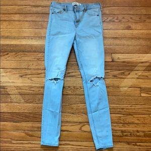 Abercrombie & Fitch super skinny hi rise jeans